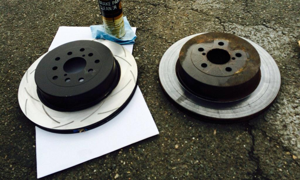 New and Old Brake Rotors